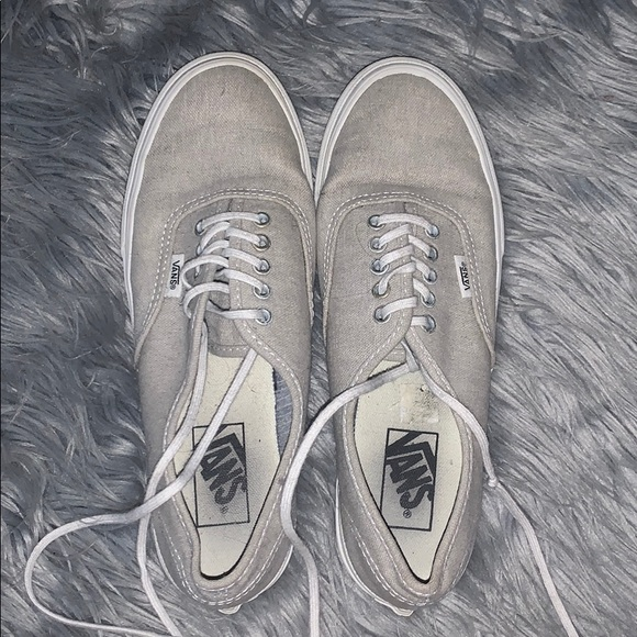 Vans Shoes   Gray Thin Lace Shoe   Poshmark